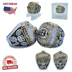 2021 Fantasy Football Championship Ring And Clear Ring Display Case New