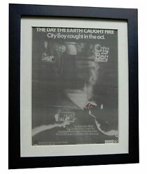 Racing Cars+day Caught Fire+poster+ad+rare+original 1979+framed+fast Global Ship