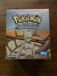 Topps Pokemon The First Movie Card Box Sealed Box 36 Booster Packs Pikablu Error