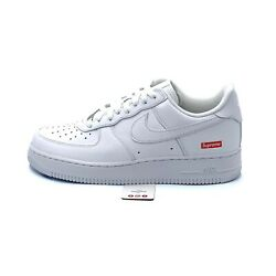 Nike Air Force 1 Low Supreme White Cu9225-100 Menand039s Size 6-13