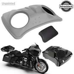 Color Matched Dual 8and039and039 Speaker Lids For Advanblack/harley Razor Tour Pak Pack