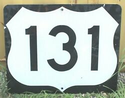 Authentic Retired Michigan Highway 131 Shield Road Sign , Grand Rapids, Petoskey