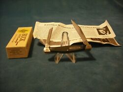Vintage, Buck 305 Pocket Knife - Original Box - Discontinued And Collectible