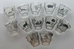 Complete Set 12 Pcs Of China Silver 12x8g 96g Medals - Lunar Year Zodiac