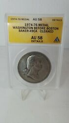 Rare Collectable Union League Medal Washington Before Boston In A/u Details Anac
