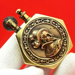 Antique - Trench Art - Ww1 - Military - Soldier - Petrol - Lighter