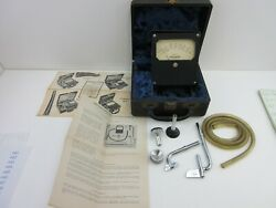 Vintage Alnor Velometer With Attachments, Case And Paperwork