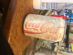 Rare Arabic Coke Bottle Unopened And Empty White And Red Has Little Dents