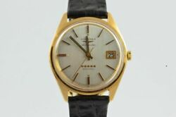 Longines Admiral Automatic Men's Watch 1 13/32in 18k 750 Solid Gold Vintage