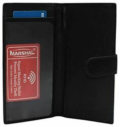 Leather Checkbook Cover RFID Wallets For Women Duplicate Check Card Pen Holder $13.99