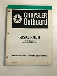 1980 Chrysler 20 30hp Outboard Service Manual Ob 3435, May Suit Other Models