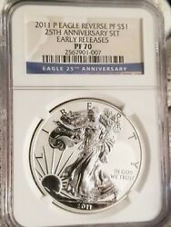 2011 P 1 Silver Eagle From The 25th Anniversary Set Ngc Rp Pf70 Early Releases