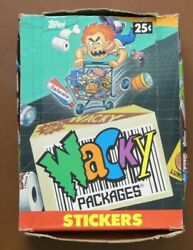 1990 Topps Wacky Packages Stickers Hobby Box - 60 Sealed Packs