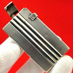 Antique - French - Rare Mechanism - Full Solid Silver / Sterling - Lighter