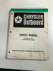1980 Chrysler 35 45hp Outboard Service Manual Ob 3436, May Suit Other Models