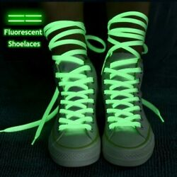 1 Pair Luminous Shoelaces Flat Sneakers Canvas Shoe Laces Glow In The Dark Night
