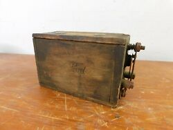 Vintage Ford Model T/a Wooden Battery Pack Ignition Coil