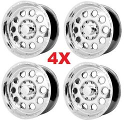 17 Polished Alloy Wheels Rims Super Duty Utility Truck Work Commercial