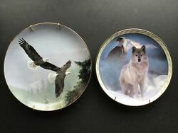 Above The Mist And United In Spirit Collectable Plates W/hangers