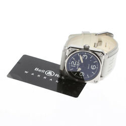 Bell And Ross Aviation Wrist Watch Automatic Br03-92 Black Dial W/ Warranty Card