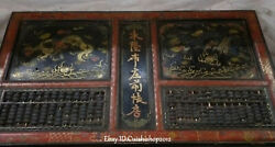 105cm Big Old Wood Lacquerware Dragon Play Bead Abacus Counting Frame Desk Table