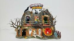 Dept.56 Snow Village Halloween Haunted Fun House Animated Light Up Working Great