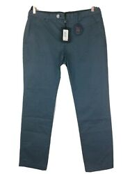 Ted Baker London Procor Slim Fit Chino Pants Teal Blue 36 R Nwt