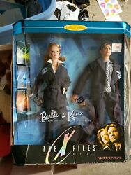 Barbie And Ken Doll The X-files 1998 Set Mulder And Scully Collector Ed 19630