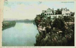 Homes Houses Mansions On Bluffs Tennessee River Chattanooga Tn 1900's Postcard