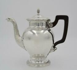 Antique 1900s France Rare 950 Silver Coffee Maker By Boin - Tabouret 821gr