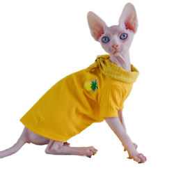 Sphynx Cat Clothes Thin and Breathable Shirt for Summer for Small Cats and Dogs