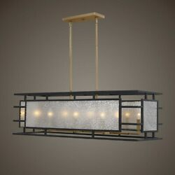 Holmes Xxl 42 Aged Mercury Glass And Metal Pendant Chandelier Light Uttermost