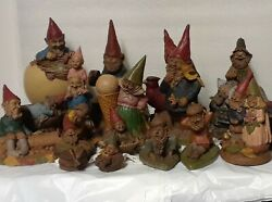 Lot Of 17 Gnomes By Tom Clark, Vintage Collectible Sculpture Figurine 3 Signed