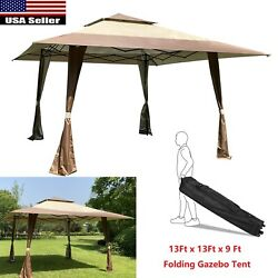 13x13 Ft Folding Pop Up Gazebo Awning For Patio Garden Wedding Party Tent Canopy