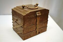 Antique Brass Vanity Box Dressing Chest Of Drawers 3 Stories Foldable Staircase