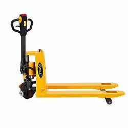 Apollo Electric Pallet Jack Truck Lithium Battery 3300lbs 48 X 27 Fork Size