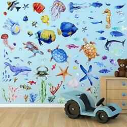 116 Pieces Under The Sea Wall Decals Fish Wall Decals Fish Wall Nursery Stick...