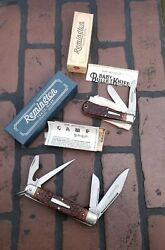 1994 Remington Camp Bullet Knife R4243 And 1983 R1173 Baby Bullet Knife Nice