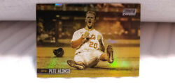 Pete Alonso Chrome Insert Gold Mint Parallel Card 2021 Stadium Club Ny Mets
