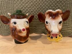 Elsie The Cow And Elmer Creamer And Sugar Bowl