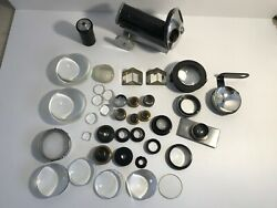 Reichert Wien Microscope Spare Parts Lenses Eyepieces Brass Magnifying Glasses