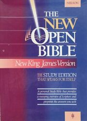 Holy Bible Open Bible, New King James Version, Black By Nelsonword - Hardcover