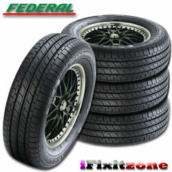 4 New Federal Super Steel 657 Ss657 215/60r15 94h Uhp High Performance Tires