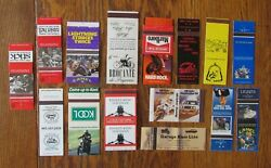 Motorcycle Related 15 Different Matchbook Matchcovers -g15