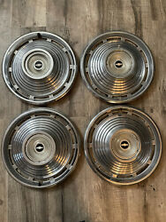 """Oem Hubcaps Wheelcovers Chevy Nova 1965 14"""" 1964 1963 1962 Impala Corvair 1966"""