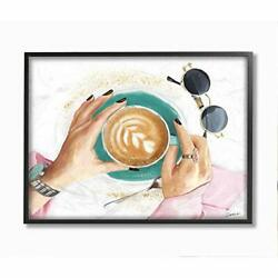 Stupell Industries Glam Latte Womenand039s Fashion Accessories Coffee Designed By ...