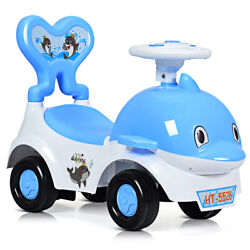 3-in-1baby Sliding Push Cart Toddler Walker Learn To Ride On Toy Car Blue
