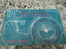 1968 Original 1st Edition Corvette Owners Manual With 1/2 News Card