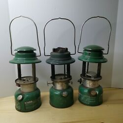 Lot Of 3 Vintage Coleman Single Mantle Lanterns As Is For Parts Or Repair
