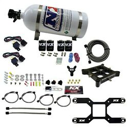 Nitrous Express 66042-10 Dual Stage Billet Crossbar Plate System